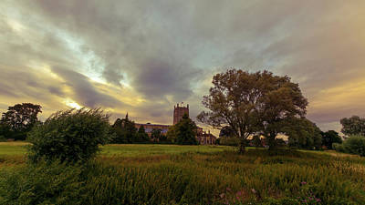 Photograph - Tewkesbury Abbey South View D by Jacek Wojnarowski