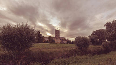 Photograph - Tewkesbury Abbey South View E by Jacek Wojnarowski