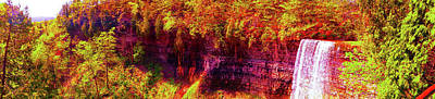 Photograph - Tews Falls Pano by Daniel Thompson
