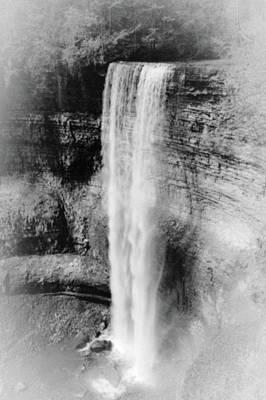 Photograph - Tews Whitemist Falls Bw by Daniel Thompson