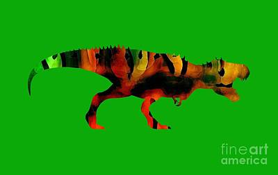 Digital Art - Tex The T-rex  by Rachel Hannah