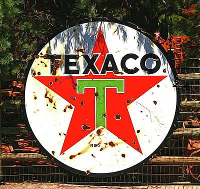 Photograph - Texaco by Allen Beatty