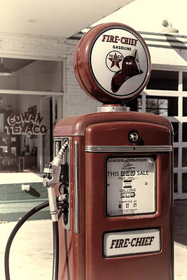 Old Texaco Gas Station Photograph - Texaco Fire-chief #2 by Stephen Stookey