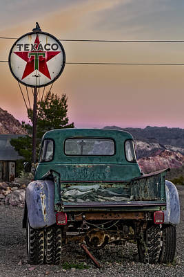 Photograph - Texaco Gas Station by Susan Candelario