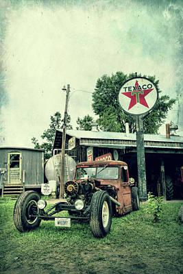 Photograph - Texaco by Joel Witmeyer