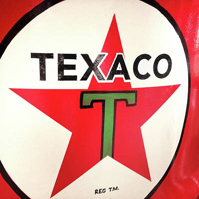 Gasoline Photograph - Texaco by Les Cunliffe