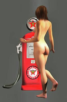 Painting - Texaco Pump by Jan Keteleer