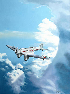 Historic Aviation Painting - Texaco Sky Chief by Kenneth Young
