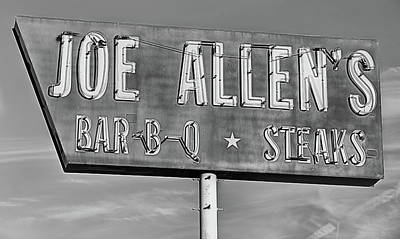 Photograph - Texan 101 Black And White by JC Findley