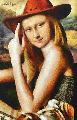 Enigmatic Painting - Texan Mona Lisa by Leonardo Digenio
