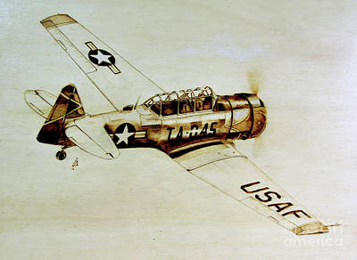Pyrography Pyrography - Texan T6 by Ilaria Andreucci