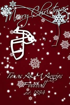 Texas Am Aggies Christmas Card Art Print by Joe Hamilton