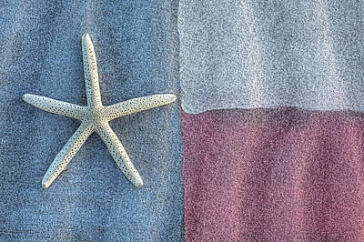 Photograph - Texas Beach Flag by JC Findley