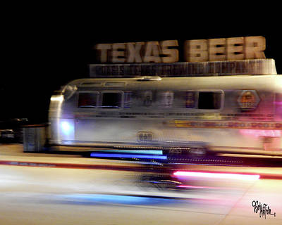 Texas Beer Fast Motorcycle #5594 Art Print