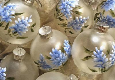 Texas Bluebonnet Ornaments Art Print by Betty Denise
