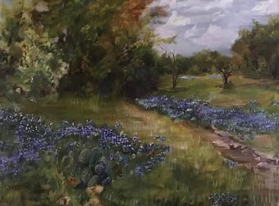 Painting - Texas Blues Fields by Cheryl Damschen