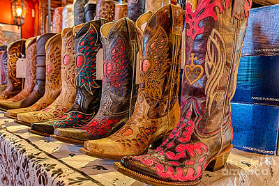 Still Photograph - Texas Boots by Tod and Cynthia Grubbs