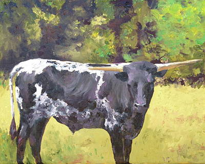 Painting - Texas Bull by Cheryl Green