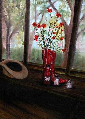 Painting - Texas Cafe by Betty Pimm