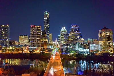 Texas Capital Skyline After Dark Art Print