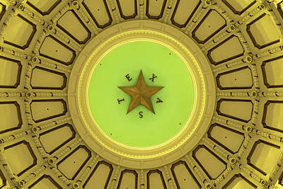 Photograph - Texas Capitol Building Dome - Austin Tx by Gregory Ballos