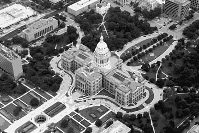 Capitol Building Digital Art - Texas Capitol Bw10 by Scott Kelley