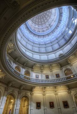 Photograph - Texas Capitol Dome Interior by Van Sutherland