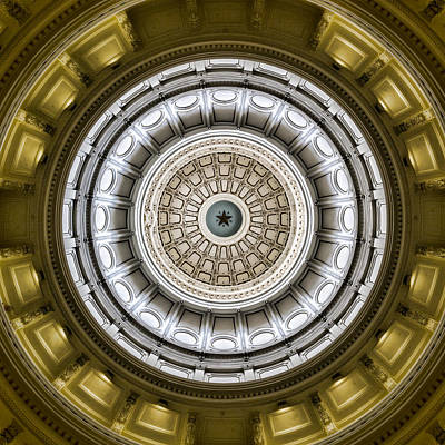 Republic Building Photograph - Texas Capitol Dome by Stephen Stookey