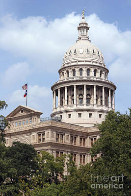 Texas Capitol Art Print by Jeannie Burleson