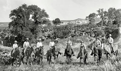 Cattle Drive Photograph - Texas Cattle Drovers  1901 by Daniel Hagerman