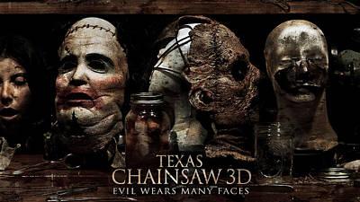 University Digital Art - Texas Chainsaw 3d by Super Lovely