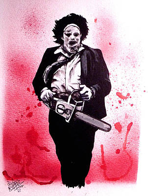 Texas Drawing - Texas Chainsaw Massacre The Final Scene by Sam Hane