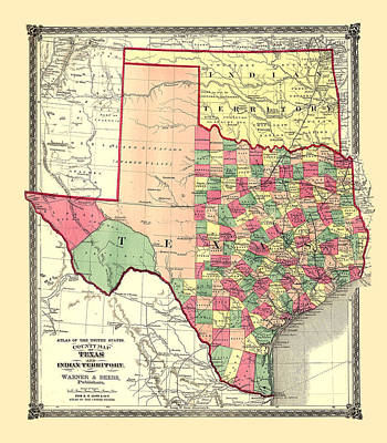 Painting - Texas Counties by Gary Grayson