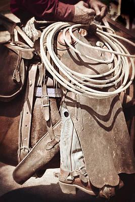 Texas Cowboy 1 Art Print by Paul Huchton