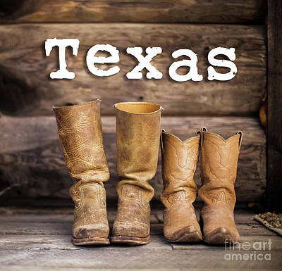 Photograph - Texas Cowboy Boots by Pd