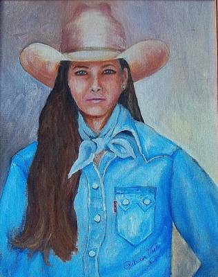 Painting - Texas Cowgirl by Patricia Voelz