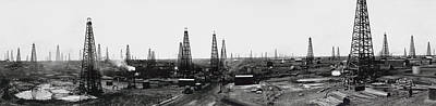 Oil Drilling Photograph - Texas Crude 1919 by Daniel Hagerman