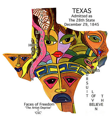 Painting - Texas by Deprise Brescia