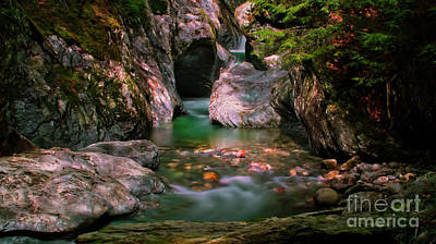Photograph - Texas Falls by Scenic Vermont Photography