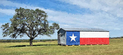 Photograph - Texas Flag Barn by JC Findley