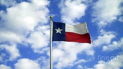 Photograph - Texas Flag by Cindy New
