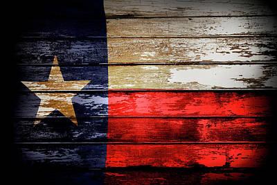 Texas Flag Art Print by Les Cunliffe