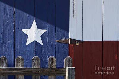 Texas Flag Painted On A House Art Print by Jeremy Woodhouse