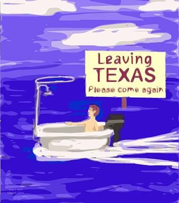 Cartoonist Digital Art - Texas Flood by Larry E Lamb