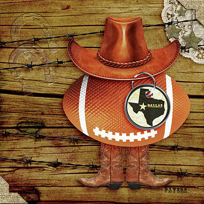 Digital Art - Texas Football by Paula Ayers
