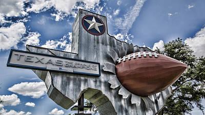 Uil Photograph - Texas Football by Stephen Stookey