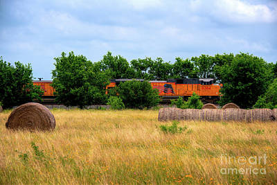 Photograph - Texas Freight Train by Kelly Wade