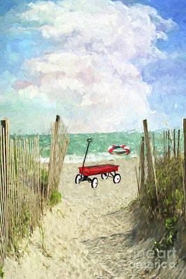 Texas Fun In The Sun  Art Print by L Wright