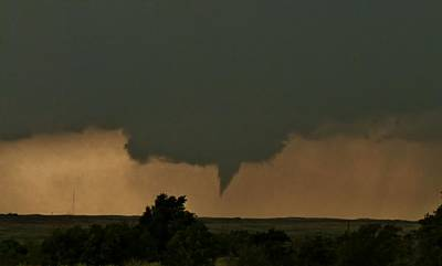 Photograph - Texas Funnel Cloud by Ed Sweeney