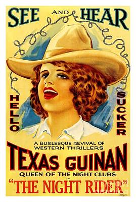 Painting - Texas Guinan 1919 Queen Of The Burlesque Night Clubs by Peter Gumaer Ogden Collection